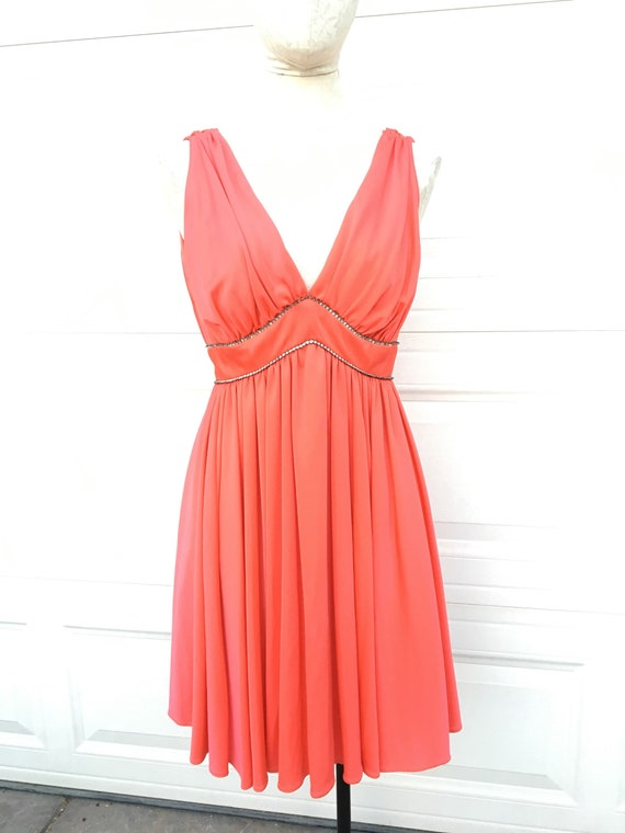 Vintage 1950s 1960s bright orange red NEW old stoc