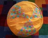 Daisy Gerbera Daisy Bean Bag Chair Cover, Golden Orange, Blue, Pink, Orange, Turquoise