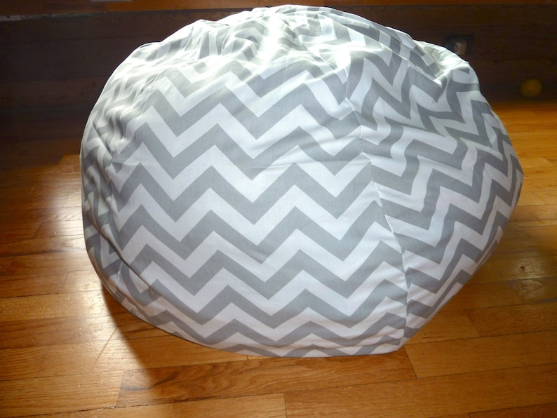 Grey White Chevron Bean Bag Chair Cover Silver Gray Red Etsy