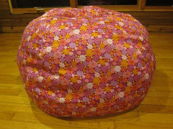 Amazing Flower Bean Bag Chair Cover Hot Pink Yellow Lavender Light Pink Flowers Daisy Etsy Kids Gift Under 75 Machost Co Dining Chair Design Ideas Machostcouk