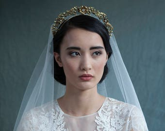 Art Nouveau Tiara - Gold Bridal headpiece - Vintage Tiara Bridal crown  -  Bohemian Wedding Headpiece - 1930s headpiece - Agnes Hart UK
