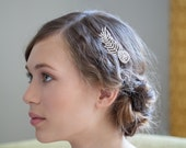 Bridal Hair Comb - Wedding Hair Comb - Crystal Feather comb - Art Deco comb - Bridal  headpiece