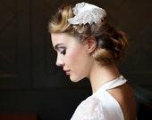 Art Deco Wedding Headpiece, Juliet cap, 1940s Headpiece, Art Deco Headpiece, white, ivory, champagne,
