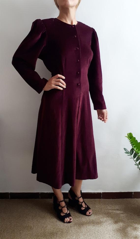 Vintage Burgundy Velvet Dress / Vintage Palmers Dr