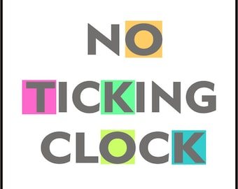 No ticking clock mechanism quiet / silent clock