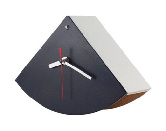 Black & White Wood Desk Clock Hand painted acrylic , Unique Table Clock  perfect Handmde  gift for him, Summer home decor
