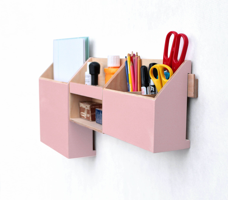 Pink Wall Organizer office, Rose Powder Mail organizer, Pink Desk