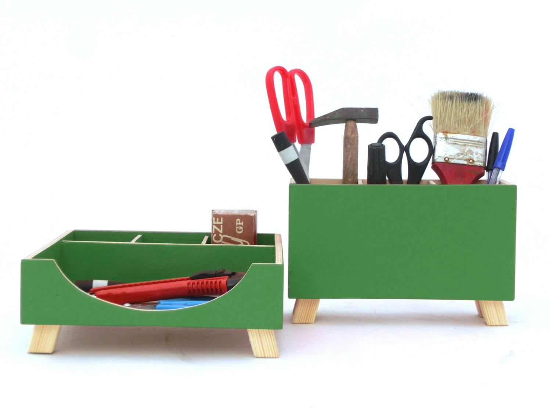 gr n schreibtisch organisator schreibtisch accessoires f r etsy. Black Bedroom Furniture Sets. Home Design Ideas