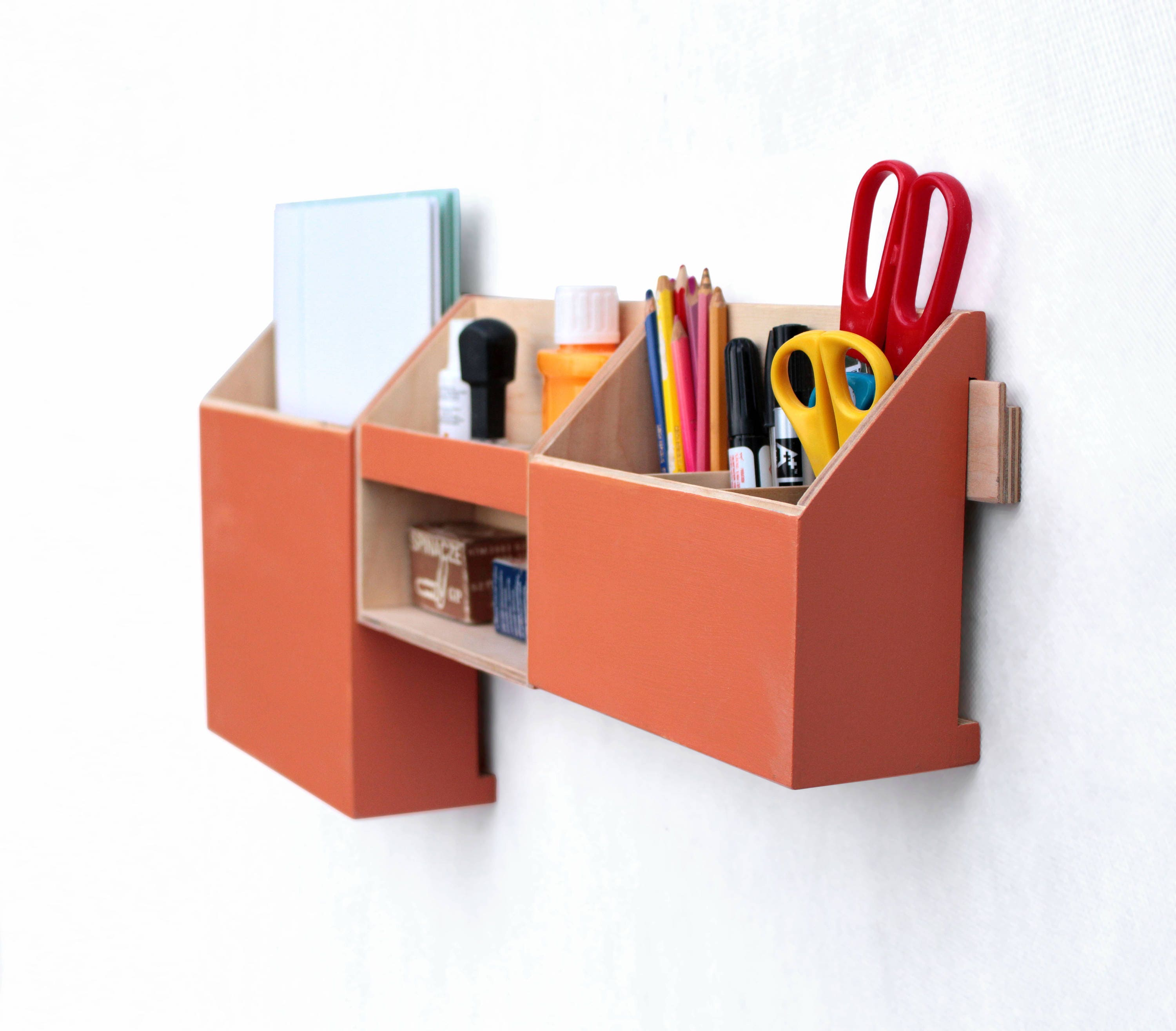 Wall Organizer Orange, Mail Organizer, Wall Office Paper Organizer, Modern  Pen Holder, Office Mail Storage Set, Spring Sale