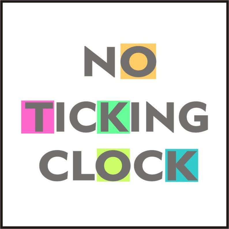 No ticking clock mechanism quiet / silent clock image 1