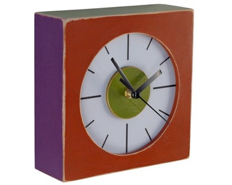 Wall clock multicolor, Rusty clock, Wall hanging clock , Back to school, Birthday gift, Winter home decor,
