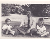 Father and Sons Vintage Photograph (A)