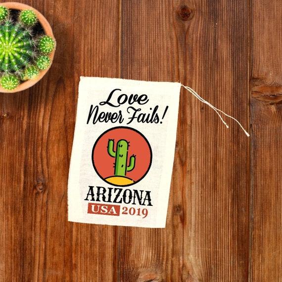 JW Gift Bags - ARIZONA International Convention - Regional JW 2019  Convention Bags - 3x5 4x6 5x7 Love Never Fails