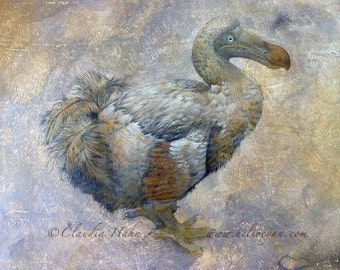 A4 Print 'The Lonely Dodo'