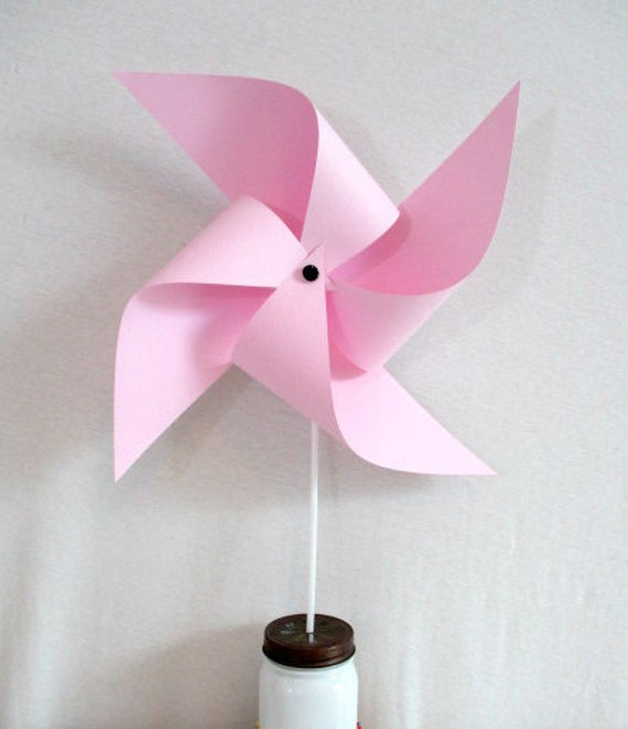 Pink Party Decoration Baby Shower Decor Large Pinwheel Birthday Decorations Table Centerpiece