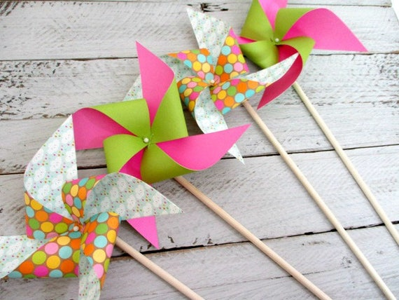 Birthday Decorations Paper Pinwheel Party Favors