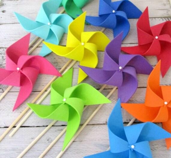 Photo Props Kids Toys Rainbow Party Favors Pinwheels Plush Foam Soft