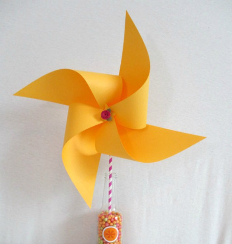Wedding Decoration Yellow Pinwheel Birthday Decorations Baby