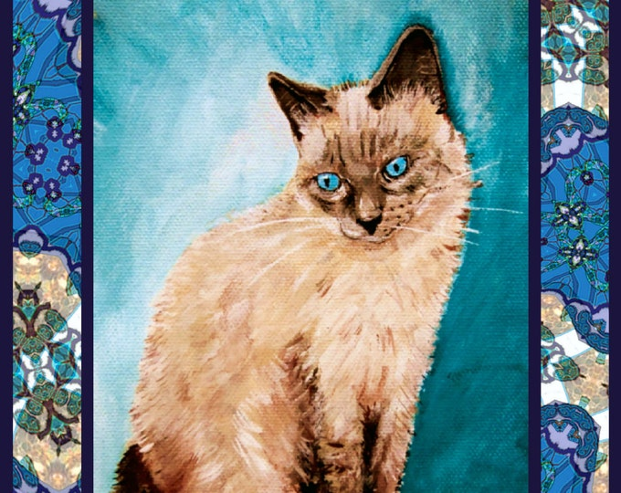 Siamese Birman Cat poster print