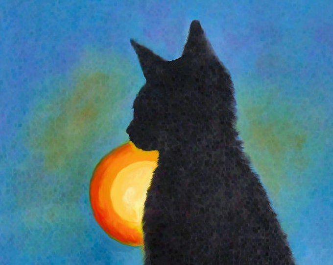 Cat Silhouette Print Poster