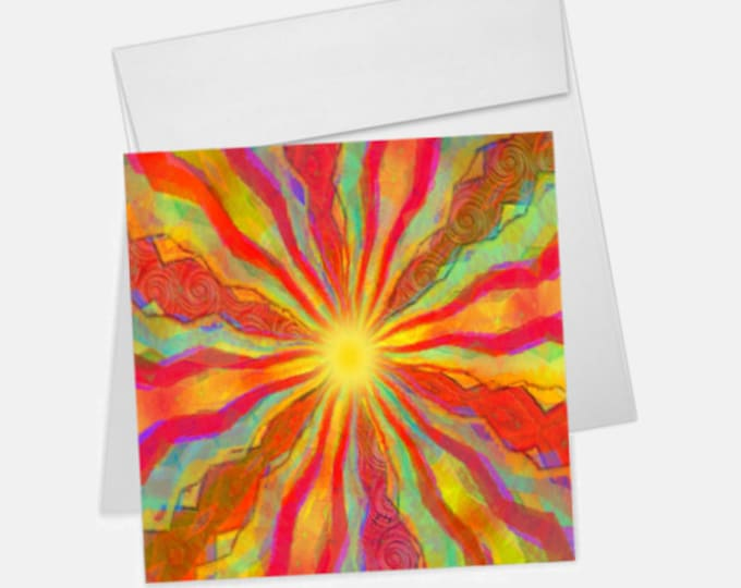 August Sun Printed Greeting Card