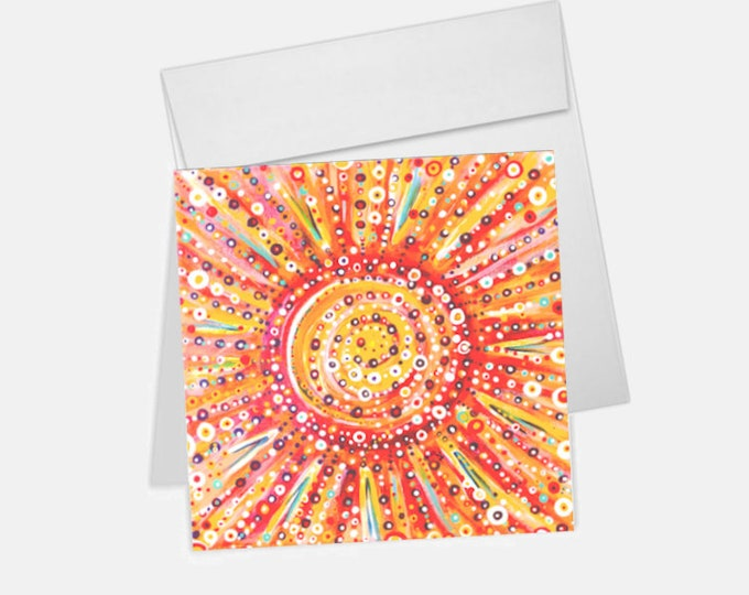 Sun Spots Printed Greeting Card