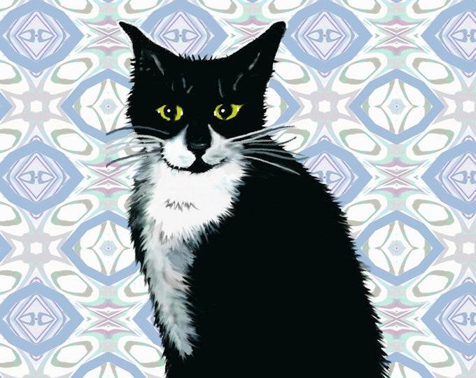 Tuxedo Cat Print Poster