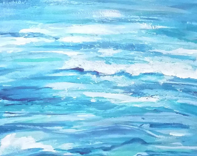 Ocean Waves Original Painting Free Shipping USA
