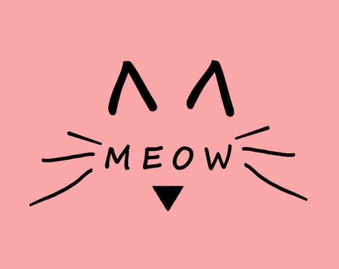 Meow Printed Greeting Card