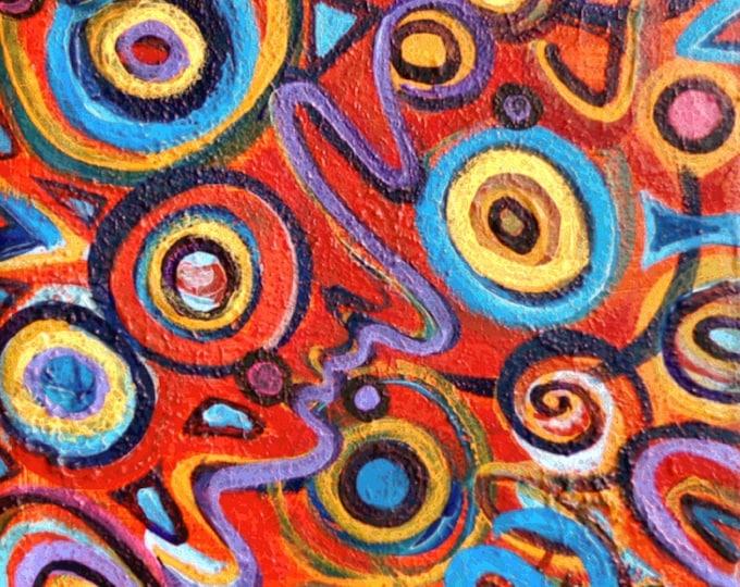 Celebration Original Painting Free Shipping USA