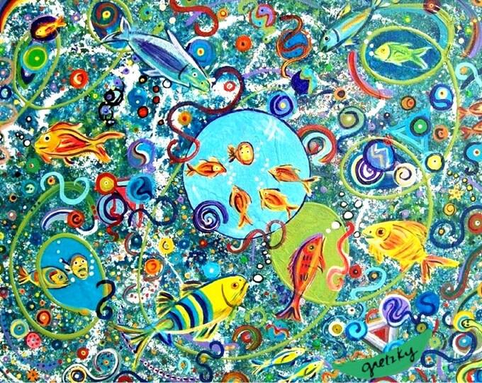Fish Party Print