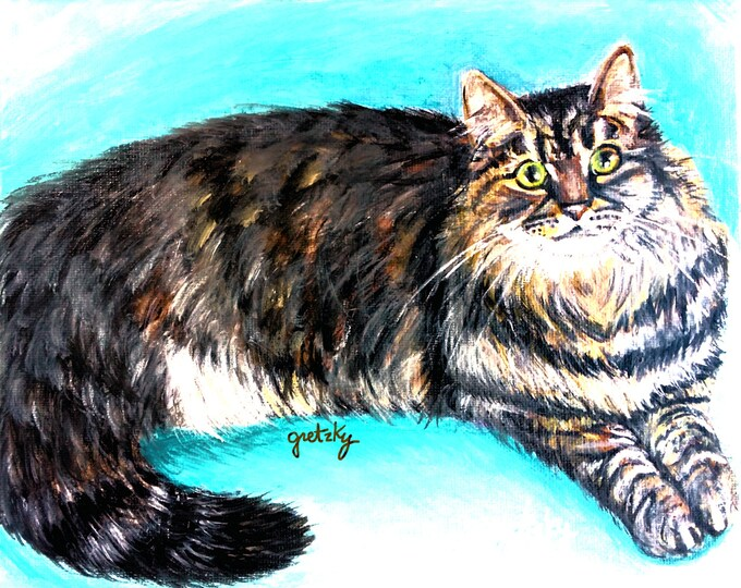 Munchkin Tabby Cat Print Poster
