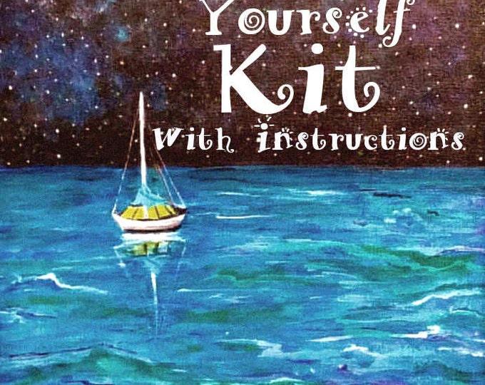 Painting Kit - Sailboat under the stars