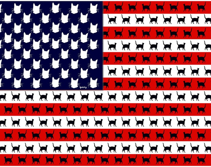 Cat Flag Printed Greeting Card