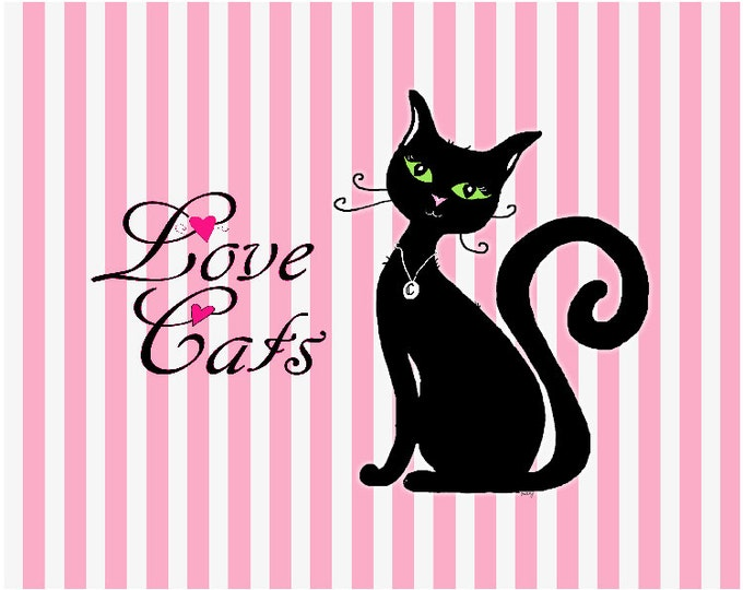 Love Cats Print Poster