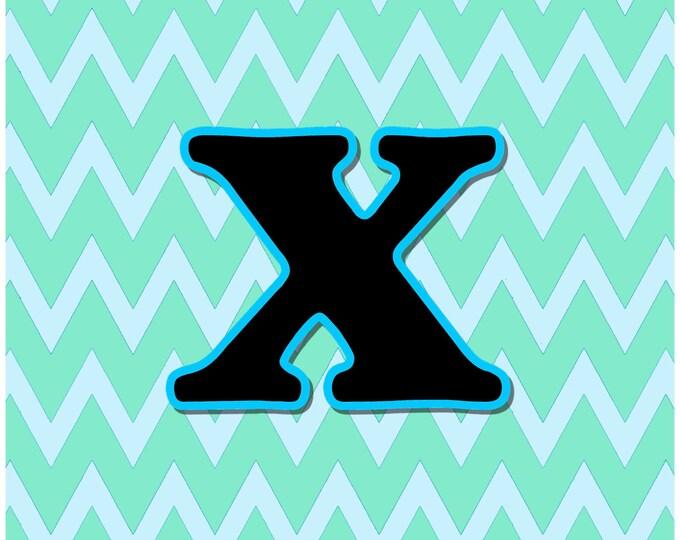 Letter X Digital Download