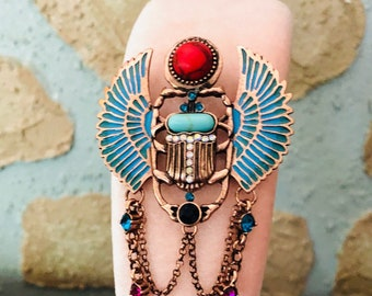 Headband & Vintage Style Brooch -:- Modern Fascinator - Bridesmaids Crown Design You Own Hat Christina Jean Millinery OOAK Egyptian Revival