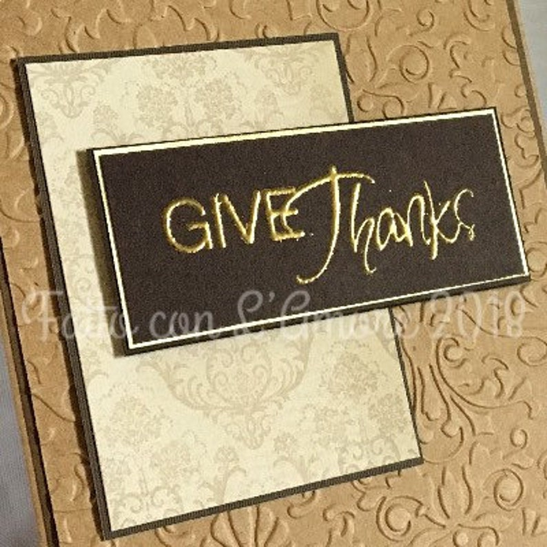 Thanksgiving card Give Thanks