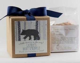 Baby Shower Favors  | Bear Cub Shower | Little Bear Shower | Woodland Shower | Cupcake Mix | Custom Label | Personalized Favors