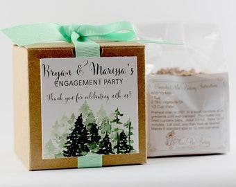 Wedding Favors  | Winter Wedding Favor | Engagement Party Favor | Personalized Wedding Favor | Custom Label | Cupcake Mix