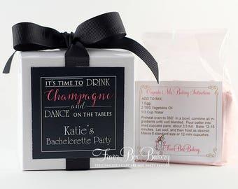 Bachelorette Party Favors  | Champagne Party Favor | Bachelorette Party | Couples Shower Favor | Cupcake Box | Cupcake Mix