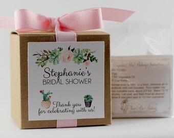 Bridal Shower Favor  | Floral Shower Favor | Succulent Bridal Shower | Modern Shower Favor | Cupcake Mix | Custom Label