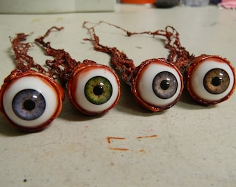 Halloween Prop - Realistic Human Ripped Out Eyeball - 4 colors to choose from