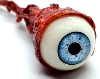 Halloween Prop - Realistic Life Size Horror Ripped Out Eyeball Light Blue