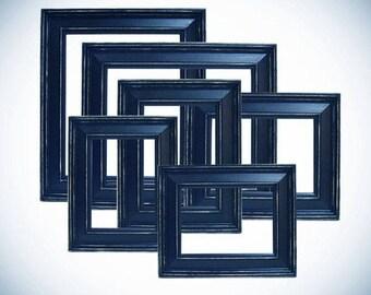 Navy Blue Frames Etsy