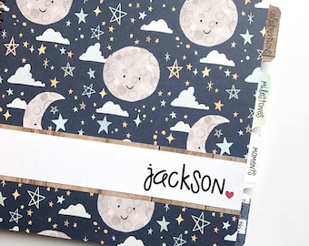 Baby Book Boy * Neutral Baby Book * Baby Book Girl * Personalized Baby Book * Star Themed * Baby Memory Book * Baby Boy Baby Book * JACKSON