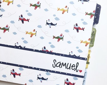 Baby Book Boy * Neutral Baby Book * Baby Book Girl * Personalized Baby Book * Airplane * Baby Memory Book * Baby Boy Baby Book * SAMUEL