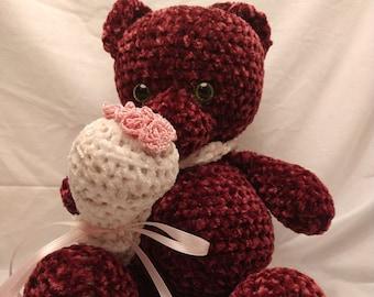 Valentines Teddy Bear, crochet teddy bear