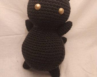 Black cat amigurumi, cat amigurumi, Made to Order