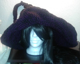 Witch Hat, Oversized Witch Hat, crochet hat, crochet witch hat, halloween hat, MADE TO ORDER